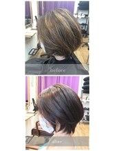 グランジュテ 稲毛店(GRAND JETE)ブリーチ毛に対する縮毛矯正(カラーもしてます)