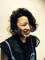 髪質改善ヘアエステ アリュール(allure)☆癖を生かした前下がりボブ☆ 【新宿 髪質改善 allure】
