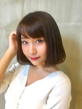 メゾン ディボーテ(maison devote)の写真/【栄◆徒歩1分】大人女性の髪のダメージを最小限に透明感・艶も出る上品な仕上がりへ。明るい白髪染めも◎