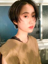 テトヘアー(teto hair)ハンサムショート 前髪なし マニッシュ マッシュ ノーバング