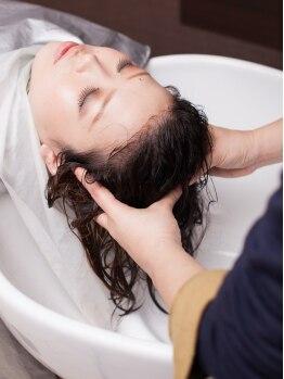 スクウォット(Squat)の写真/ヘアダメージは溜めこまず、持ち越さず♪オーガニックTRとデトックスSPAでツヤサラ美髪を目指します☆