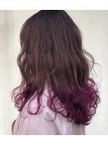 ヘアー アイス カンナ(HAIR ICI Canna)ピンク×裾カラー