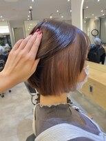 【Zina札幌】ピンクベージュ/ボブルフ髪質改善/艶髪/ハイトーン