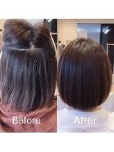 """""""髪質改善のスペシャリスト""""による、自然で生まれつきストレートのような髪の毛へ"""