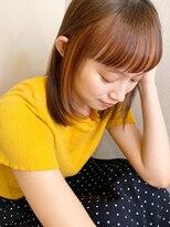 マリア(Maria by afloat)【山田】インナーカラーストレートミディバングカラー