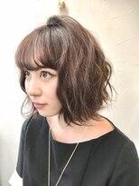 ヘアーアンドメイク ポッシュ 新宿店(HAIR&MAKE POSH)ウェーブショートスタイル