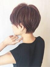 アルバム シブヤ(ALBUM SHIBUYA)エレガンスジェンダーレスピンクアッシュショート_6766