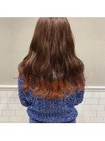 フェン ヘアーアイス(Fen.hair ici)ポイント 裾カラー オレンジ ダブルカラー
