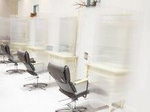 ヘア ジュレ ドゥ(hair jurer deux)の雰囲気(新型コロナウイルス対策◆飛散防止パネル設置してます♪)