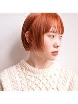 ビレップドゥエ(BIL'EP due)オレンジカラー×ミニボブ