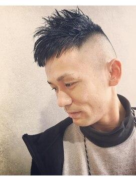 メンズワイルドベリーショートスタイル L グローバルヘアー バランス Global Hair Balance のヘアカタログ ホットペッパービューティー