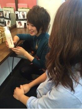 """アモンド(Amonde)の写真/より良い""""質""""を求めるあなたに…。一人一人を大切にしたカウンセリングで、通えば通うほどキレイな髪に!!"""