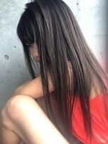 フェス カットアンドカラーズ(FESS cut&colors)ハイライトに濃いカラーを重ねた透け感【福岡美容室FESS】