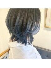 アルマヘアー(Alma hair by murasaki)◎ボブレイヤーにブルーカラー◎