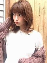 カヤックバイハニー 渋谷店(KAYAK by HONEY)【KAYAK】小室 大人可愛いグレージュくびれミディ外ハネ