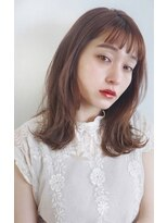 ガーデン アオヤマ(GARDEN aoyama)【豊田楓】大人かわいい ミディアムレイヤー ことりベージュ