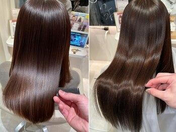 ウィル あべの店(WiLL)の写真/完全オーダーメイドヘアケア★Aujuaや話題のサイエンスアクアで究極の艶髪に♪極上ケアで髪色も美しく!