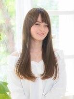 オーブ ヘアー アクネ 長岡京店(AUBE HAIR acne)定番♪透け感カラーのストレート