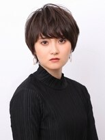 ピークアブー アヴェダ アトレ恵比寿(PEEK-A-BOO AVEDA)前髪有×丸型のためのふんわりマッシュヘア 恵比寿 須賀