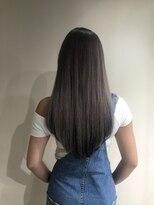ビーヘアサロン(Beee hair salon)ラベンダーグレージュ(インナーカラーブラック)/安部郁美