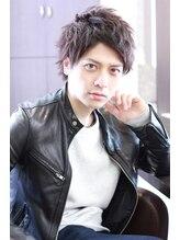 モッズ ヘア 津田沼店(mod's hair)アップバングの爽やか系エッジショートスタイル