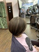 イヴァルヴ(EVOLVE)30代40代のツヤ髪白髪染め+メッシュ