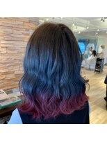 ネオヘアー 曳舟店(NEO Hair)【裾カラー】グレージュ×レッド(曳舟)