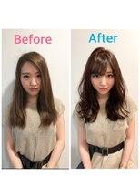 【小顔モテ髪/安部】前髪カットとカラーだけでかわいく大変身☆