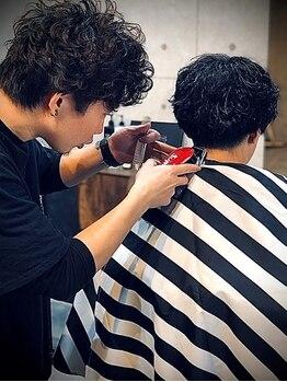 """アルファベットシーガム(C gam)の写真/<2020年2月NewOpen>美容室は入りづらい…そんな男性の為に創られた""""メンズ特化型サロン""""◆西川口徒歩5分"""