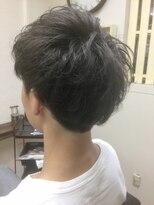 ファシオ ヘア デザイン(faccio hair design)メンズショート×アッシュ×ゆるパーマ