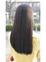ルララドゥ大人可愛い/艶髪ロングストレート×縮毛矯正 西新井 文教