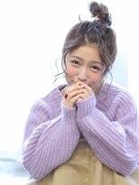 ヘアリゾート バレンタイン(hair+resort valentine)☆クリスマスヘアアレンジ☆無造作お団子アレンジ!