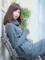 オーブ ヘアー ハラジュク 原宿店(AUBE HAIR harajuku)シルエット美人なセミディで上品な可愛さをプラス