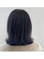 ヘアーサロン リアン 熊谷2号店(hair salon Rien)切りっぱなしボブ×ブルーブラックグラ