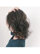 テラスヘア(TERRACE hair)透明感ダークグレージュロブ