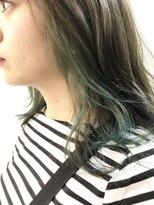 グリーン×インナーカラー×マットアッシュ【レーヴ】