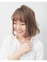 エイム ヘアメイク 横川店(eim HAIR MAKE)やわらかベージュがかわいい☆フェミニンボブ