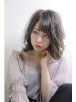 ノル(nol hair&spa)外ハネミディ