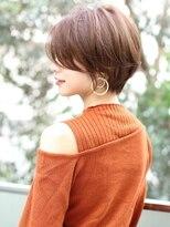 アンド ストーリーズ 表参道(&STORIES)デジタルパーマ ショートロング 前髪セシルカット大人かわいい