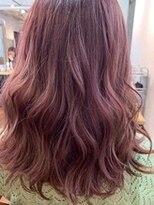 派手髪 シースルー ラベンダー 透け感 暖色系カラー 艶カラー