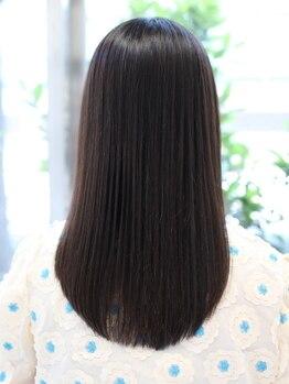 ヘアーメイクミキ 上野本店(hair make MIKI)の写真/ズルい程のツヤ髪できっと誰かの憧れの存在に…☆まるでトリートメントしたかのようなストカールが人気♪