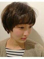 ヘアーリゾートラシックアールプラス(hair resort lachiq R+)《R+》マッシュショート☆グレージュ