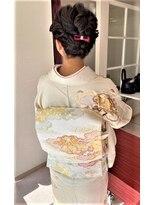 ☆春の入学式ヘアーアップと品の良い粋な着付