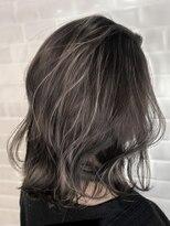 【AUBE HAIR】セミハイライト_フリンジロブ