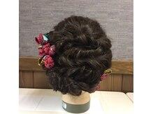 京都イブ2の雰囲気(短い髪から長い髪まで可愛くヘアセット)