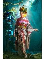 オゥルージュミュゼ(Aurouge)オーダーヘッドドレスで着物撮影。