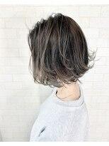 アルマヘア(Alma hair)【Alma】外ハネボブ☆バレイヤージュアッシュブラウン