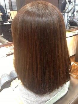 ル アンジュの写真/次世代ヘアカラー★トリートメント効果の高く、髪・頭皮はもちろん美容師の手にまで優しい『CTFカラー』
