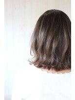 テオ ヘア(teo hair)柔らかボブ×アッシュグレー
