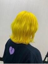 ヘアーサロン エール 原宿(hair salon ailes)(ailes 原宿) パンクイエロー